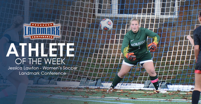 Lawton Honored as Landmark Conference Women's Soccer Defensive Athlete of the Week