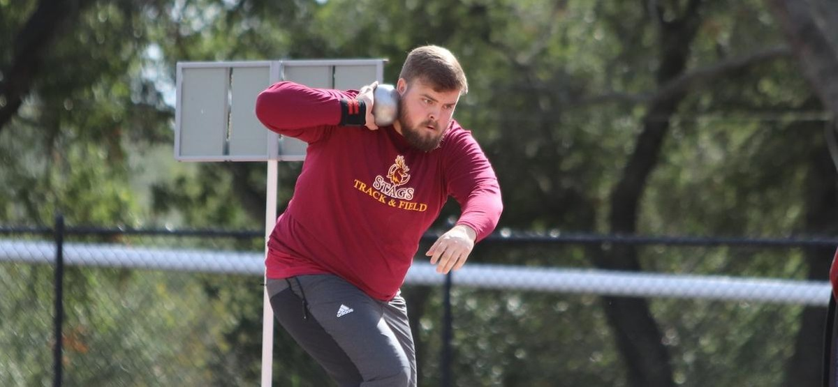 Reese Peterson won both the discus and the hammer, and took third in the shot put