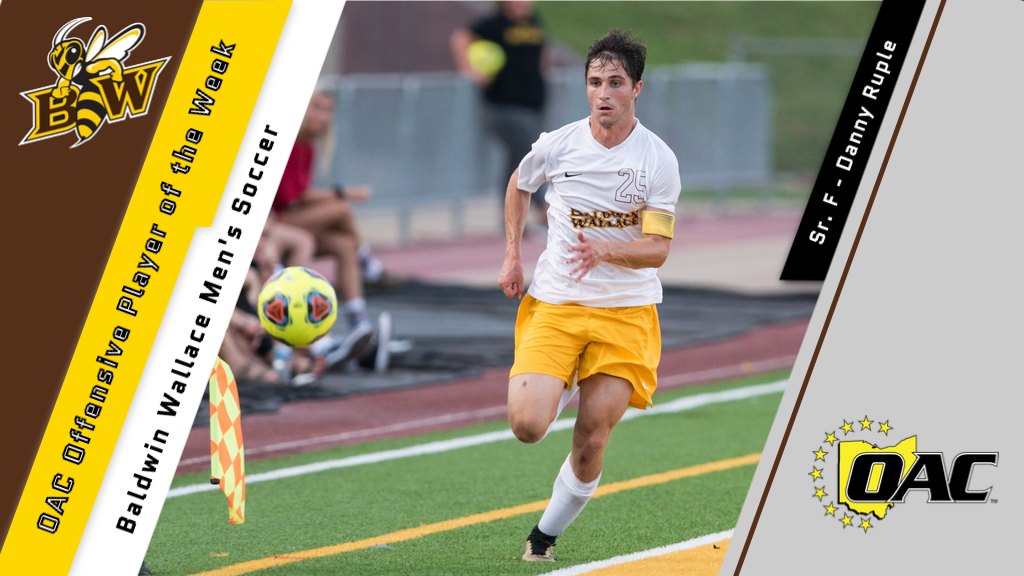 Danny Ruple was named OAC Offensive Player of the Week.