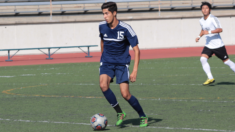 Freshman Enrique Acosta scored Citrus' lone goal in their loss to Glendale. Photo By: Grazia Watkins