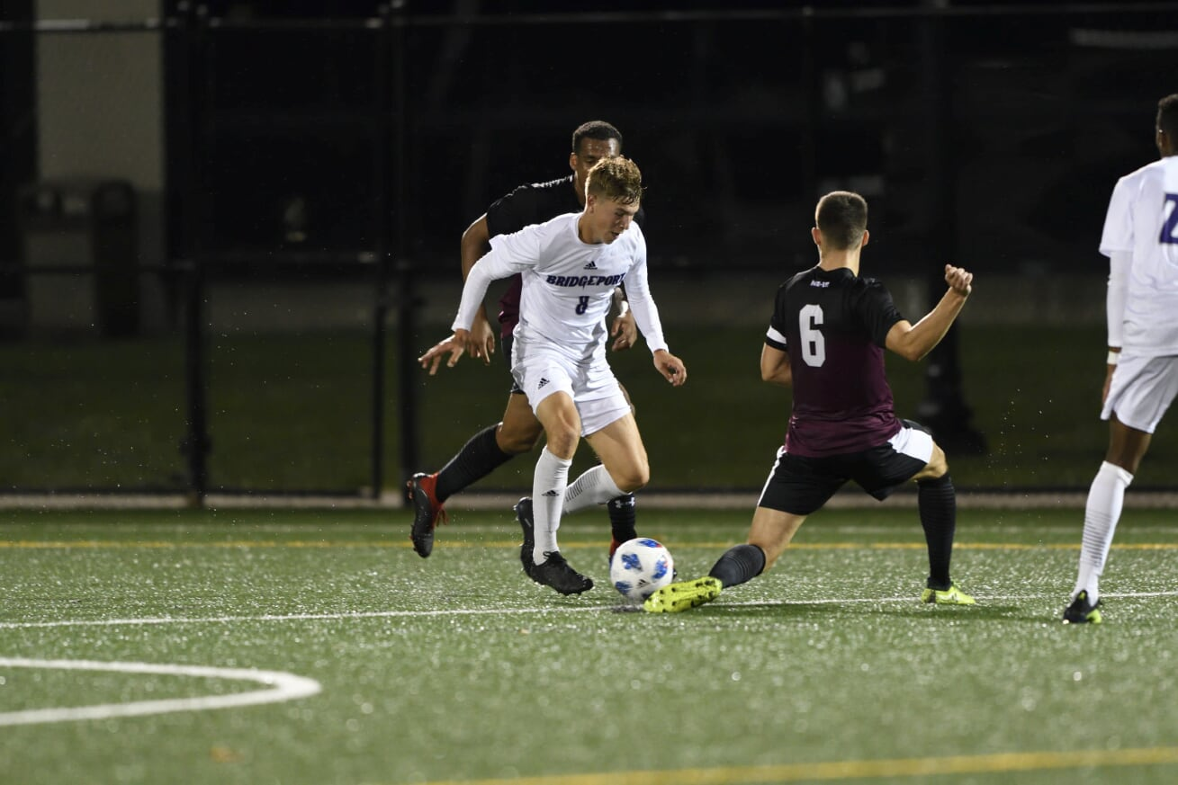 Men's Soccer Falls In See-Saw Match At New Haven, 3-2, To Open The 2019 Season