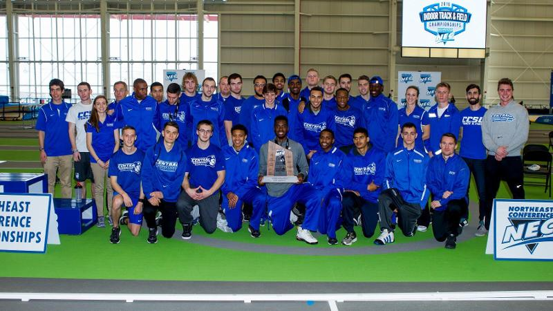 Men's Track and Field Finishes Runner-Up at NEC Indoor Championships