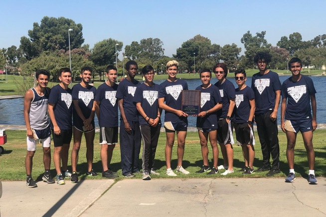 Men's cross country team took second place at the Cerritos Invite