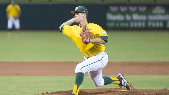 BASEBALL FALLS TO BAKERSFIELD, 4-1, IN WAC TOURNAMENT OPENER