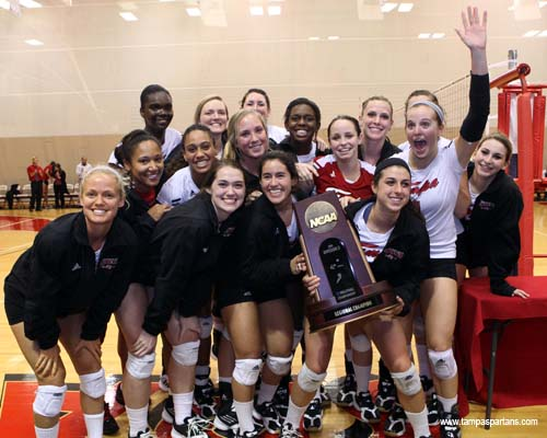 The UT volleyball team has captured three straight NCAA South Regional titles.