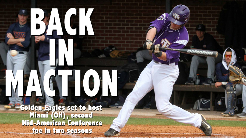 Golden Eagles to host two-game midweek set with Miami (OH)