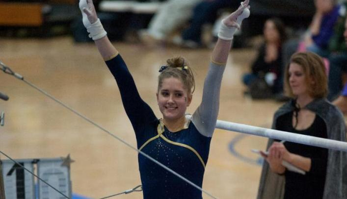 Gymnasts Finish Third at Gustavus Quadrangular