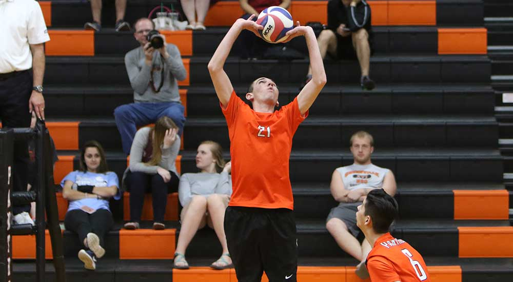 Men's volleyball topped by North Central