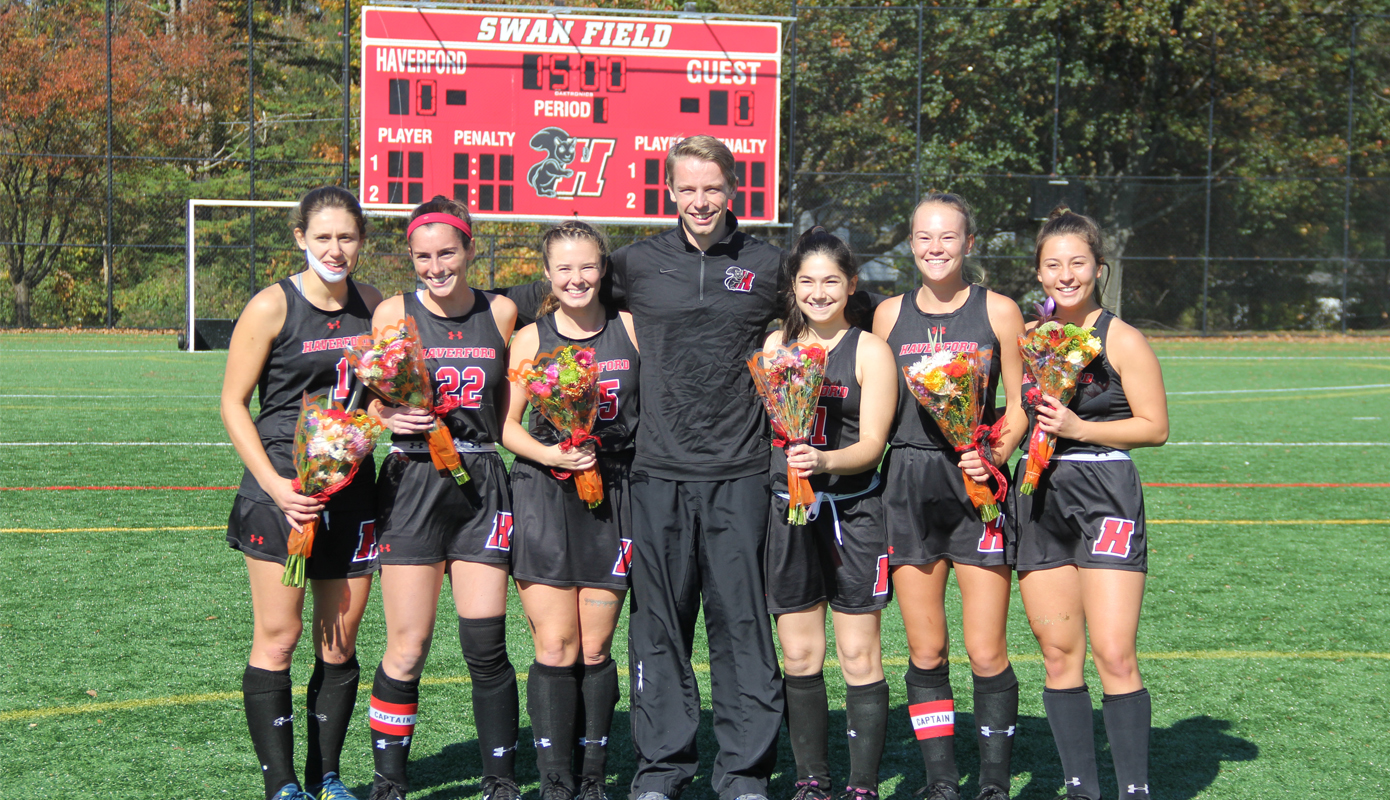 Field Hockey Notches Thrilling Senior Day Victory over Swarthmore, 2-1