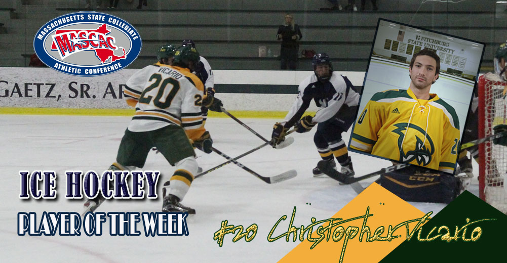 Vicario Selected MASCAC Ice Hockey Player Of The Week