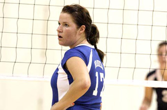 Volleyball sees five-match win streak halted at Tufts, 3-1