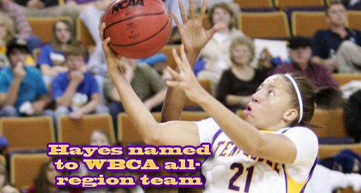 Tacarra Hayes named to WBCA all-region team