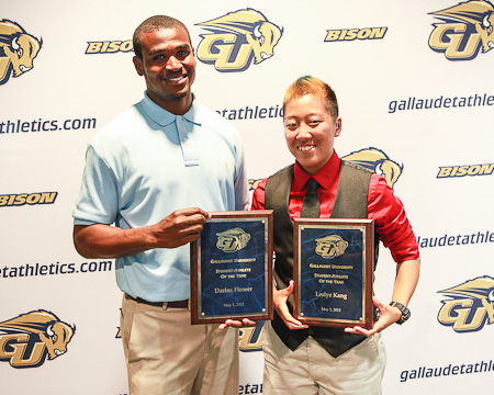 Track and Field's Darius Flowers and Lesyle Kang took home the top honors.