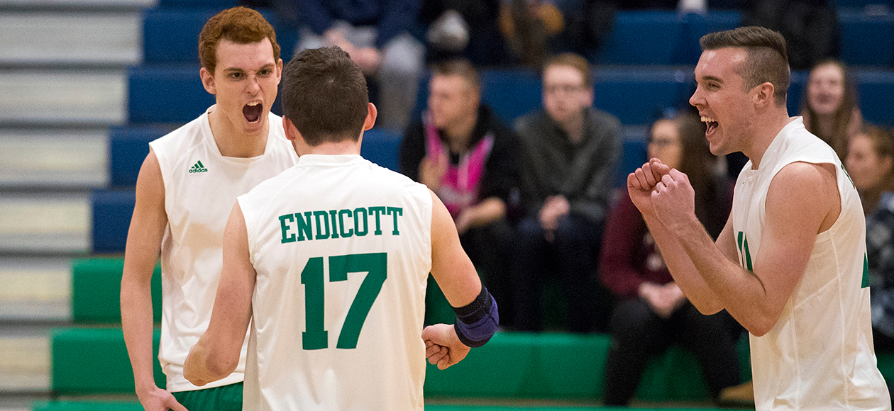 No. 7 Men's Volleyball Sweeps Dean & Lesley In Saturday Tri-Match
