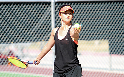 MARAUDER WOMEN'S TENNIS OPENS CONFERENCE WITH SHUTOUT OF VICTOR VALLEY