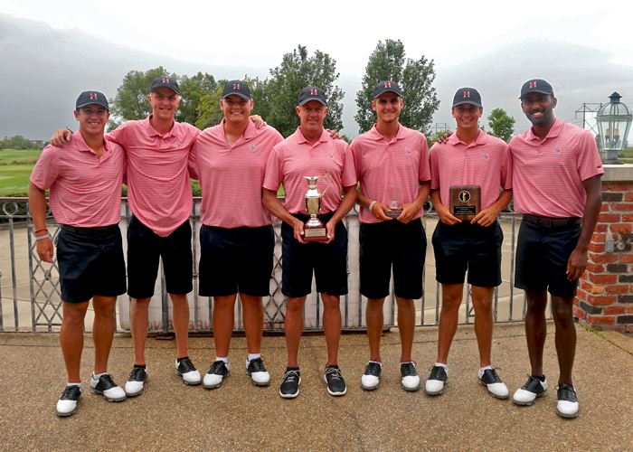 The Huntingdon men's golf team won the Rhodes College Fall Classic by 27 strokes with an 18-under 846. (Photo courtesy of Rhodes College)
