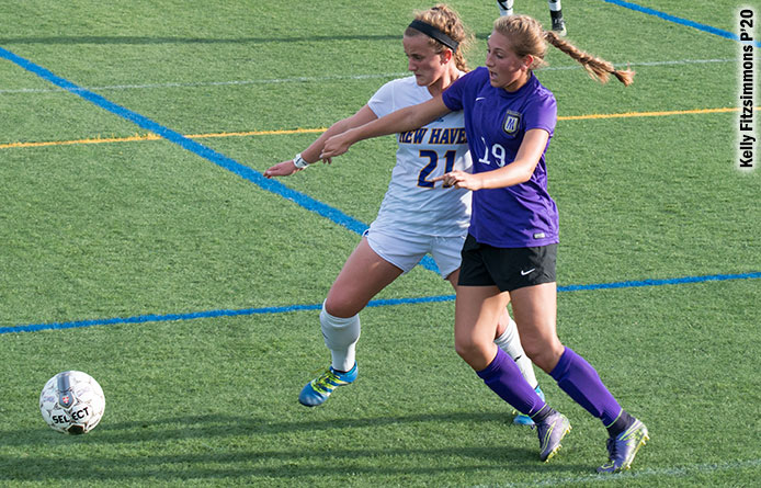 Morse Tallies First College Goal, LeCours Makes Nine Stops in Purple Knights' 1-1 Draw