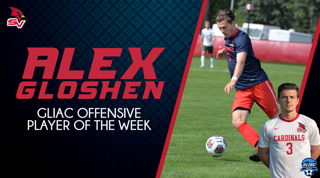 Gloshen earns GLIAC Men's Soccer Offensive Player of the Week honors