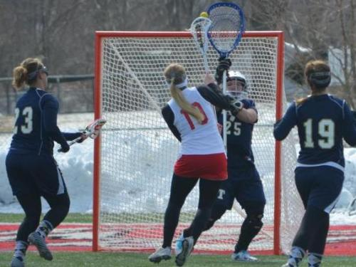 Women's lacrosse team opens home slate with 12-8 win over Trine