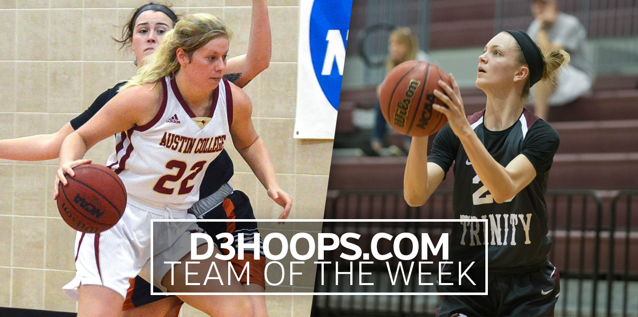 Austin College's Frank, Trinity's Weaver Named to D3Hoops.com Team of the Week