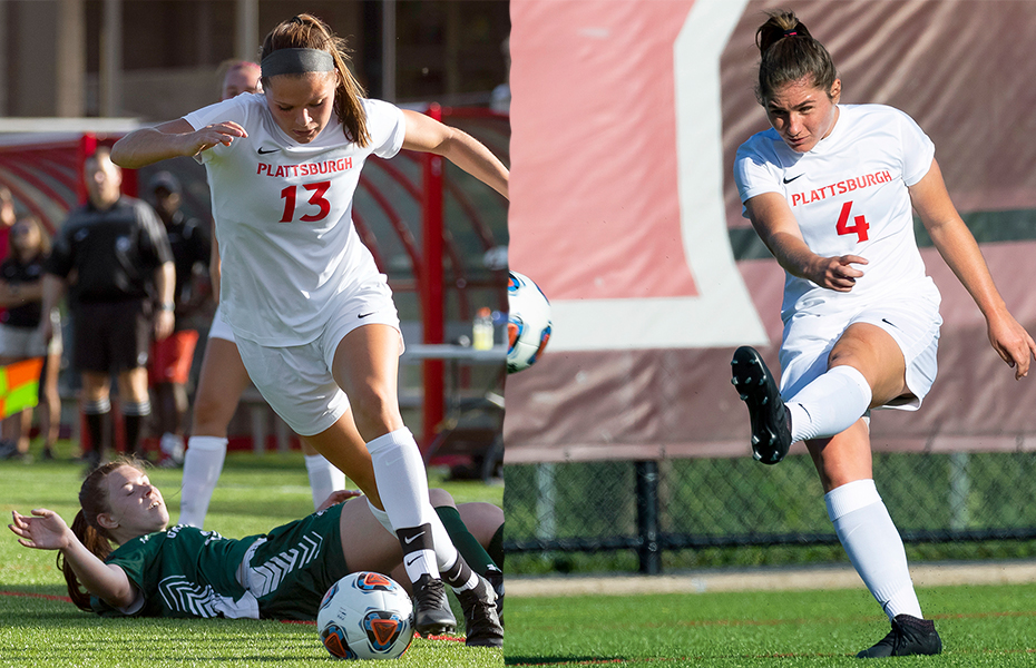 Plattsburgh's Bonner and Villemaire sweep PrestoSports Women's Soccer Weekly Awards