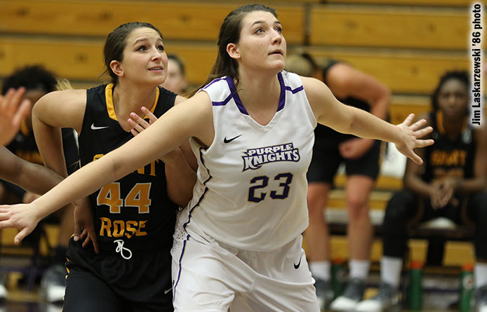 Women's basketball falls to visiting Merrimack, 43-38