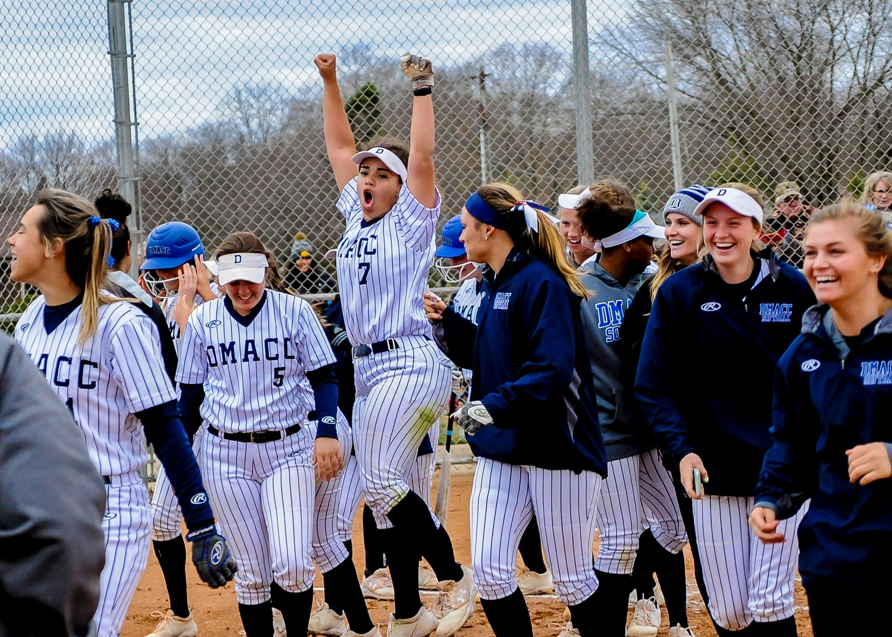 DMACC softball team sweeps doubleheader from KCC in matchup of ranked teams