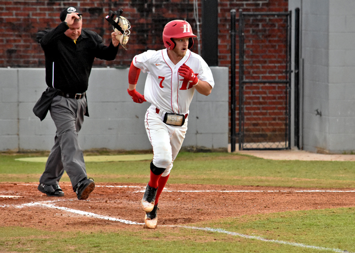 Bradley Harris was 3-for-5 with a run in Saturday's 8-0 win over Guilford.