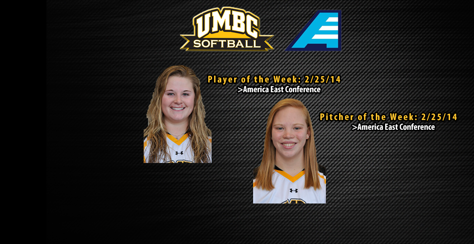 Softball's Hall and Holte Earn America East Weekly Honors