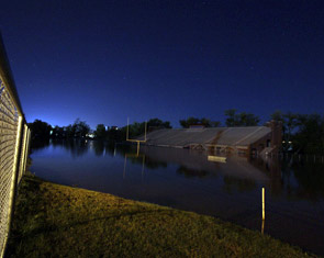 Laird Stadium underwater
