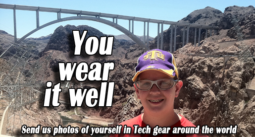 Where have you been seen wearing Tennessee Tech apparel?