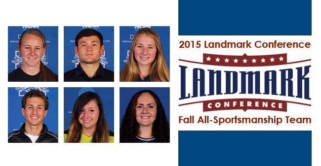 Six Greyhounds Named to Landmark Conference Fall All-Sportsmanship Team