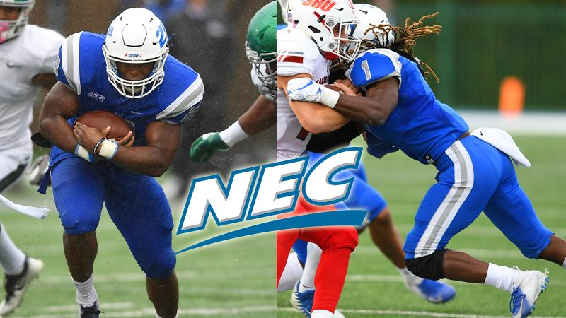 Dawson, Exilhomme Earn Northeast Conference Weekly Honors