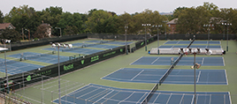 overview of stowe stadium tennis courts