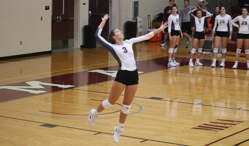 Volleyball Starts Slow, Finishes Strong against Trine