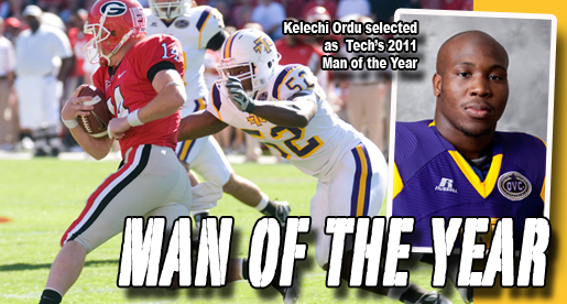 Kelechi Ordu named Tennessee Tech Athletics 2011 Man of the Year