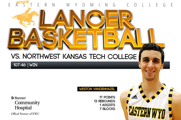 Eastern Wyoming College Lancer Basketball team vs. Northwest Kansas Technical College JV Basketball team