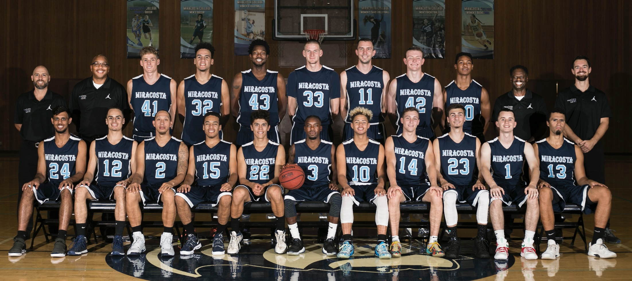 Men's basketball team picture, 2017.