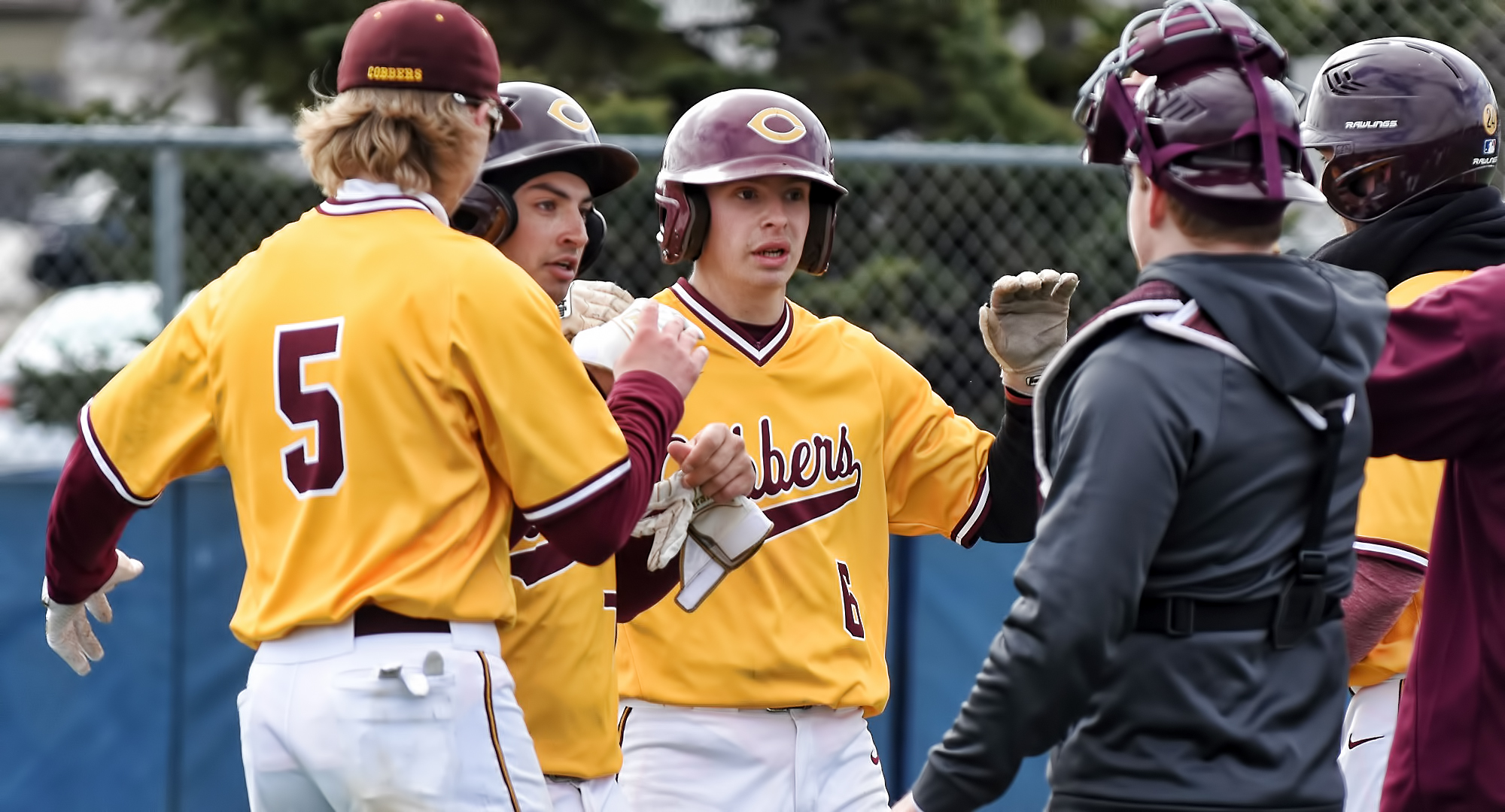 Senior Nate Hoeft had a hit in Game 2 of the Cobbers' split at St. Olaf.