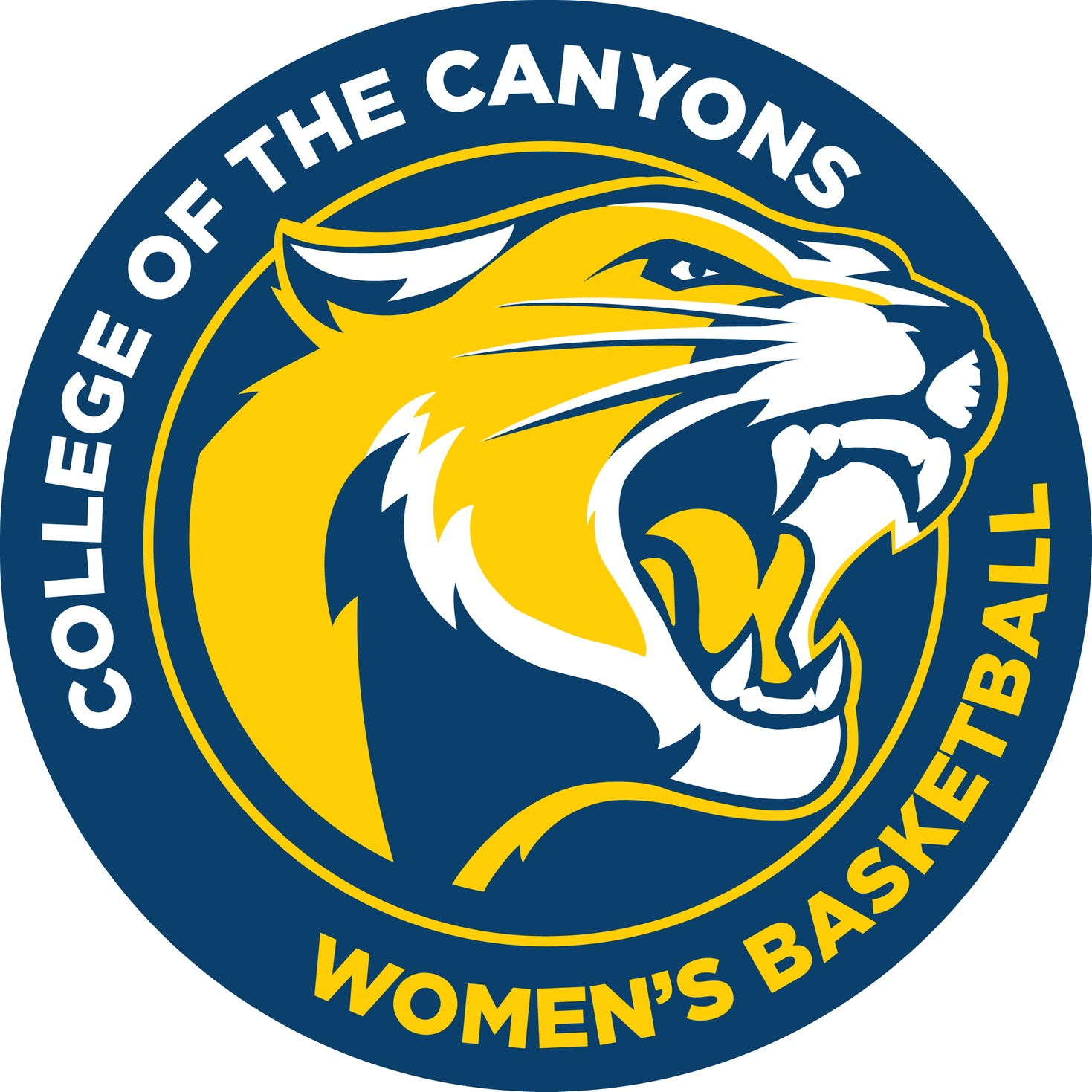 College of the Canyons women's basketball logo.