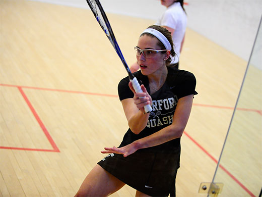 Women's squash closes out busy weekend at Yale