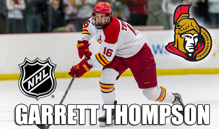 Ferris State's Garrett Thompson Inks Pro Hockey Deal With NHL's Ottawa Senators