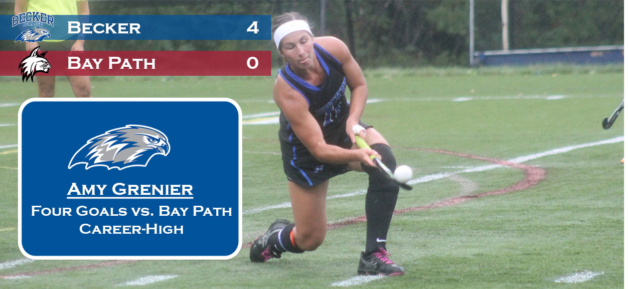 Grenier scores four to lead Field Hockey over Bay Path