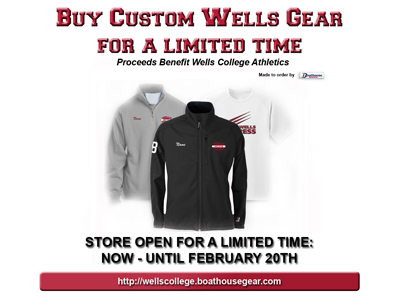 WELLS COLLEGE LAUNCHES TEAM STORE FOR LIMITED TIME