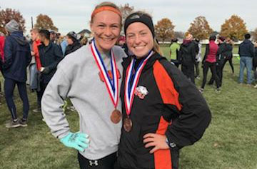 Richards and Baumann named All-Great Lakes Region as Women's Cross Country finishes 9th at Great Lakes Regionals