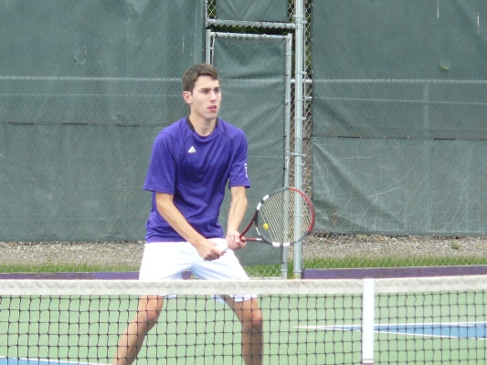 Senior Mike Pannone won both of his matches today, but the Royals dropped a 5-4 decision to Catholic University in their Landmark Conference opener Saturday afternoon in Washington, DC.