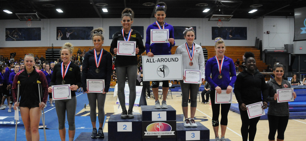 DeAngelo Earns All-America Honors in All-Around; Women's Gymnastics Takes Sixth at NCGA National Championships