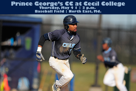 Prince George's Baseball Continues Regular Season Countdown At Cecil On Thursday