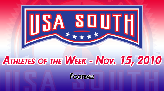 USA South Athletes of the Week - Nov. 15, 2010