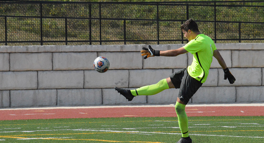 Cary Wilson made 2 saves in the tough 1-0 loss at Northwood.